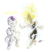 Freeza and Vegeta by Vichuis