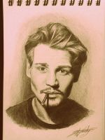 Johnny Depp portait by IAJusty