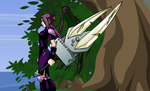 My dragonfable character Tsuki by MooniGaming