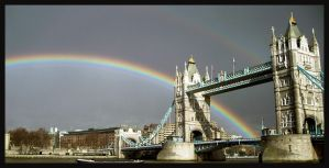 London's Tower Bridge rainbow by 3191