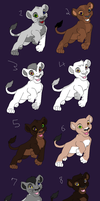 Adoptable lions 3 -Closed- by Agony-Wolf