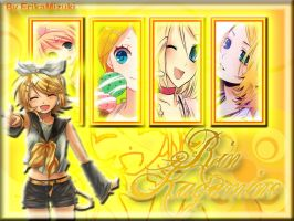 Rin Kagamine Wallpaper by ErikaMizuki