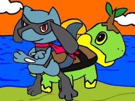 My PKMN Mystery Dungeon Team by Fuzzbyroo