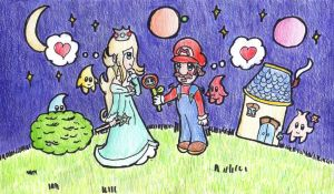 There's a flower for you, Rosalina by ClarinetPeachy