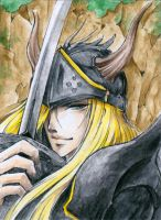 Aceo - Black Knight by cross-works