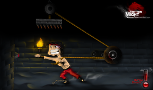 Liu kang tests his might by AShinati