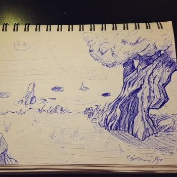 Environment concept with elm tree by Beast7Gamer