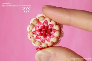 Miniature strawberry charlotte cake by CaroMcFW