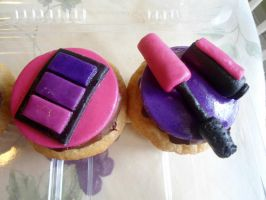 Eyeshadow and Mascara Cupcakes by PnJLover