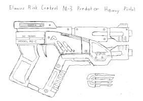 M-3 Predator - Uncolored by Katamariguy