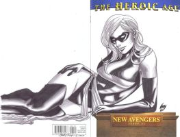 New Avengers Ms Marvel sketch by wrathofkhan