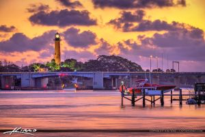 Jupiter-Florida-Lighthouse-Sunrise-Colors-at-Water by CaptainKimo