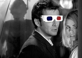 Doctor Who 3D Glasses by totallehmaddeh