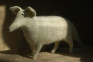 needle felted fox by vriad-lee