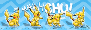 Pokemon: Pikachu Sneeze by OdieFarber