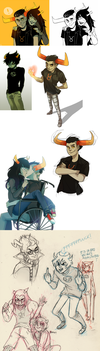 Homestuck collage by MatchaEle