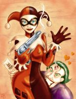 Harley Queen and the joker by KruzdelZur