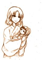 Shiki ryougi with her child by kcy4R7