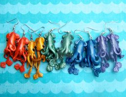 Rainbow of Squid Colors! by N-Chiodo
