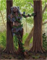 Dryad in the Forest by angelvi