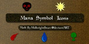 Mana Symbol Icons Mac by MidknightStarr