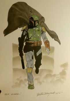 Boba Fett commission by elena-casagrande