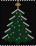 Xmas Tree V2 peyote beading pattern by bcre80v