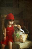 Portrait of a Girl with Rabbit by Daizy-M