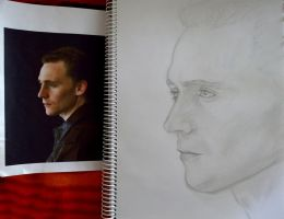 WIP Tom Hiddleston Sketch by XxGloomyPrincessxX