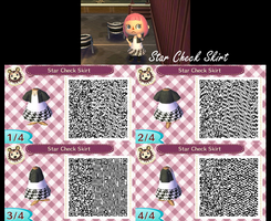 Star Checkers Skirt QR by GumballQR