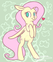 Cute Fluttershy by Espeonna