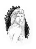 Weekly sketch - Not Galadriel by AndyIomoon