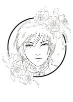 The Rose Prince - Line Art WIP by the-four-treasures