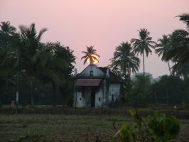 Sunset church Goa by RixResources