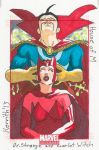 HOM - DrStrange and Scarlet Witch by KerrithJohnson