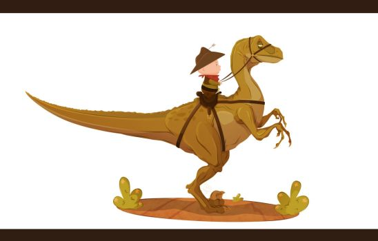 Cowboys and Dinosaurs by Phil-Crash-Murphy