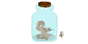 Point Commission - Bottled Up Barrel Pony by LiviaPonyArtist
