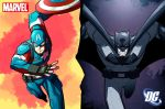 War of Icons [Batman v Captain America] by COLOR-REAPER