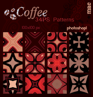 Coffee photoshop patterns by mae-b