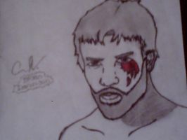 Shaded Bryan Danielson by beartic9871