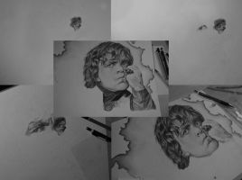 The process of drawing Peter Dinklage's portrait by MariaSkyba