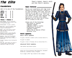 Persona Sheet Prototype - The Elite by Thrythlind