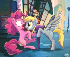 Pinkie and the derp mail by Adlynh