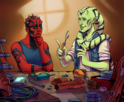 Two dorks and their electronics by Daxtered