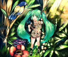Tropical Miku by xephonia
