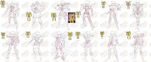 wip of my 12 golds saint in god cloth design by Naruttebayo67