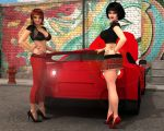 Sexy Kayla And Nina's Hot Car by WilliamRumley