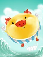 Fly Yellow Piggy by Artanti-Kusuma-Ayu