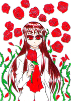 The Owner Of The Red Roses by Korhann