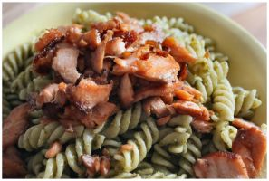 Pasta, Pesto, Salmon by DysfunctionalKid